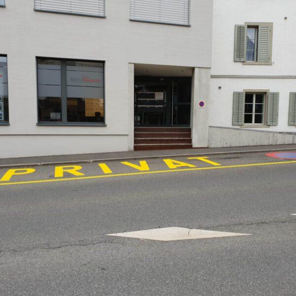Bodenmarkierung Parkverbot