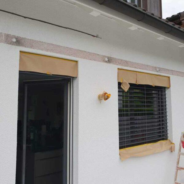 Anpassungsarbeiten an der Fassade vorher